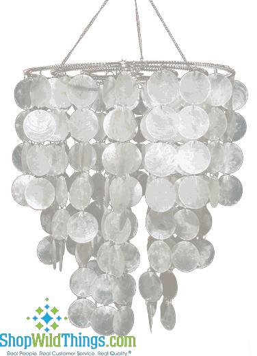 Coming Soon - Real White Capiz Shell Chandelier - Sandals Resorts!