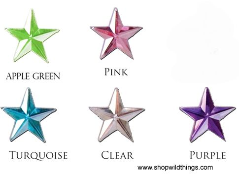Clearance - Rhinestones - 20mm Stars - 30 to 65pcs - 5 Colors Available