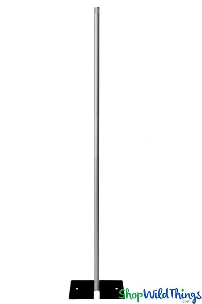 (FREE SHIPPING!) 9' Tall Fixed Height Freestanding Riser with Base - (For Beaded Crystal Columns)
