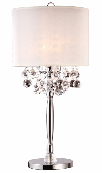 """Ritz"" Real Crystal Table Lamp - 14""Lx14""Wx30""H"