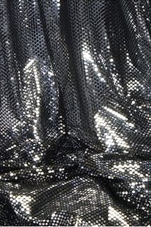"""Ritzy Round"" Spangles - Black & Silver - Fabric 44"" x 5 yards"