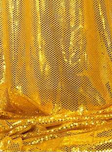 """Ritzy Round"" Spangles - Gold - Fabric 44"" x 5 yards"
