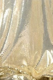 """Ritzy Round"" Spangles Gold & Ivory - Fabric 44"" x  5 yards"