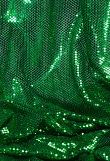 "COMING SOON! ""Ritzy Round"" Spangles - Green - Fabric 44"" x 5 yards"