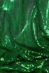 """Ritzy Round"" Spangles - Green - Fabric 44"" x 5 yards"