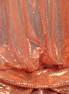 "COMING SOON! ""Ritzy Round"" Spangles - Peach - Fabric 44"" x 5 yards"