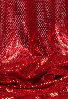 """Ritzy Round"" Spangles - Red - Fabric 44"" x 5 yards"