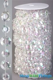 Roll of Beads 22 Yards (66 ft) - Diamante Duo Iridescent - Exceptional Quality