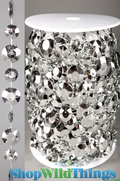 COMING SOON! Roll of Beads 22 Yards (66 ft) Diamante Duo Silver
