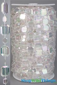 Roll of Beads 33 Yards (99 ft) - Crystal Emeralds - Transformers 3, Golden Globes, Access Hollywood!