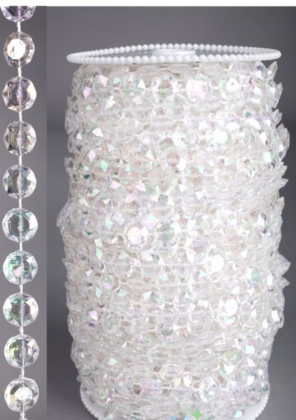 Roll of Beads 33 Yards (99 ft)- Diamonds Crystal Iridescent