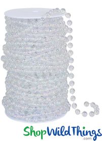 Roll of Beads 33 Yards (99 ft) - 6MM Iridescent Ballchain