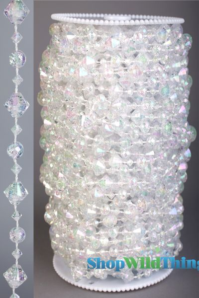 Roll of Beads 33 Yards (99 ft)- Little Gems, Crystal - BUY MORE, SAVE MORE!