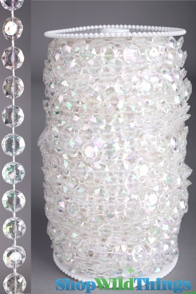 Coming Soon!  Roll of Beads 50 Yards (150 ft) - Diamonds Crystal Iridescent