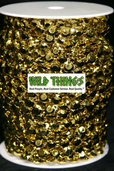 Coming Soon!  Roll of Beads 50 Yards (150 ft) - Gold Diamonds
