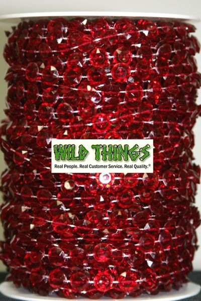 Coming Soon!  Roll of Beads 50 Yards (150 ft) - Red Diamonds