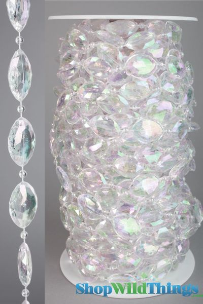 Rolls of Beads 20 Yards (60') - Sparkles Iridescent
