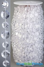 Rolls of Beads 22 Yards (66 ft)- Diamante Duo Crystal Non-Iridescent