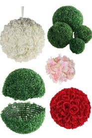 Flower Heads, Pomander Kissing Balls -Topiary Balls - Silk & Foam