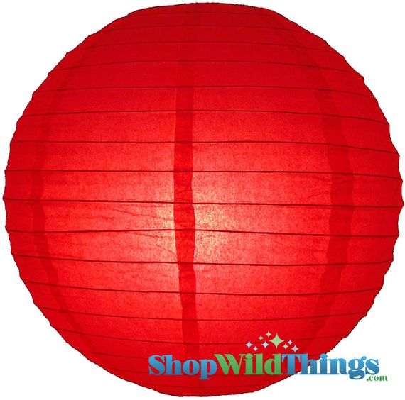 """COMING SOON! Round Paper Lantern 12"""" Red"""