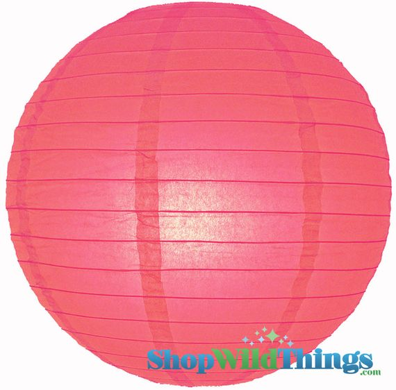 "COMING SOON! SALE ! Round Paper Lantern 16"" Rose"