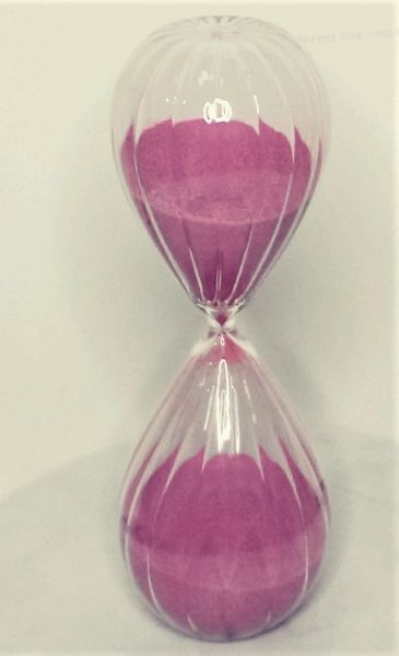 "SALE! Hourglass Sand Timer Accent Piece - 12"", 2 Hour - Rose"