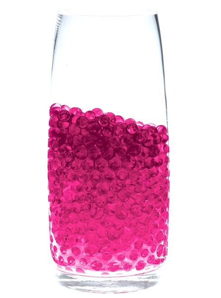 Clearance - Water Pearls - Jelly Decor - Pink Crystal Water Beads - Large - Makes 1.5 Gallons