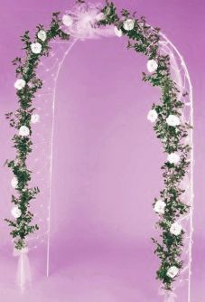 SALE! Wedding Arch with Lights, 8' Tall Metal Backdrop