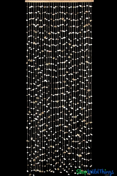 She Sells Seashells Beaded Curtain - Natural Shells Curtain