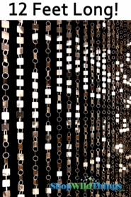Shimmy Beaded Curtain - Light Gold - 3 ft x 12 ft
