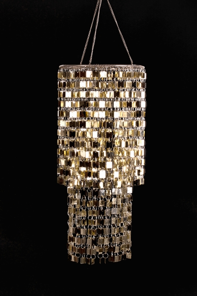 """Shimmy"" Lightweight Chandelier - Light Gold"