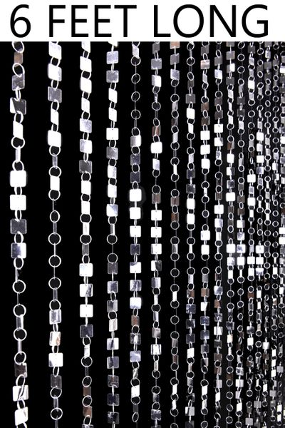 COMING SOON! Shimmy Beaded Curtain - Silver - 3 ft x 6 ft
