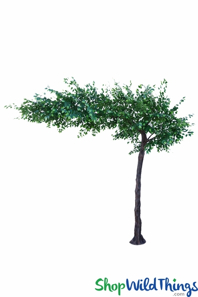 "Green Leaves Tree - 10.5 Feet Tall x 12 Feet Wide ""Sideswept"" - Create Arch Using 2!"