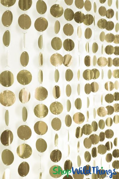 Spangles Beaded Curtain - Gold - 3ft x 6ft