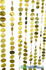Spangles Beaded Curtain - Yellow Gold - 3ft x 6ft
