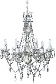 "Chandelier Gypsy Clear - 27"" x 23"" - 6 Lights - Hardwire - Collapsible"