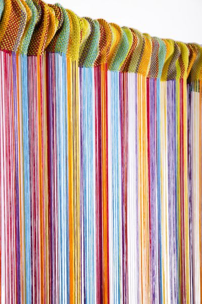 COMING SOON! String Curtain Rainbow 3 ft x 7.3 ft - Rayon