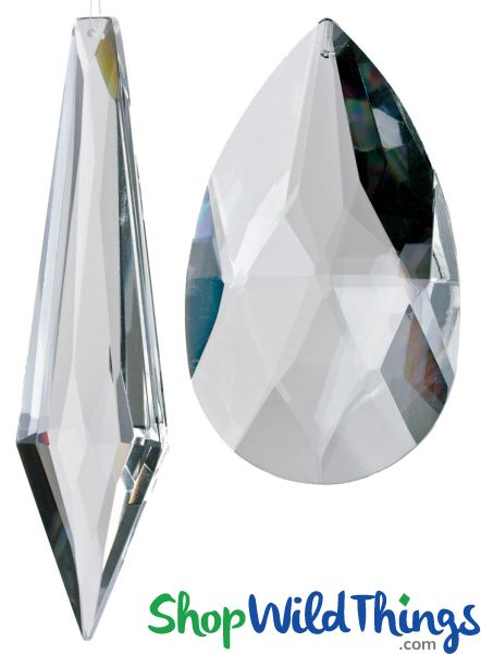 "COMING SOON! Real Glass Crystal Ornaments Extra Large - Set of 2 - 5"" & 6"""