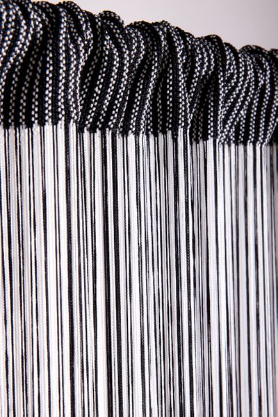 COMING SOON! String Curtain Black & White 3 ft x 7.3 ft - Rayon