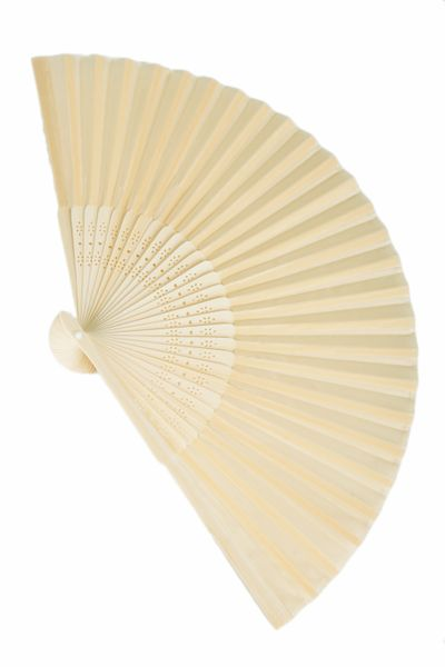 "Folding Fan Ivory - 8 1/4"" x 14"" - Set of 6"