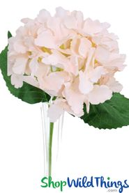 "Silk Hydrangea Bloom Blush Pink - Deluxe 6"" Flower"