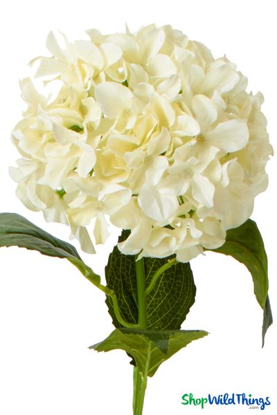 "Silk Hydrangea Bloom - Ivory Spray - 7"" Flower, 33"" Stem (as low as $4.07)"