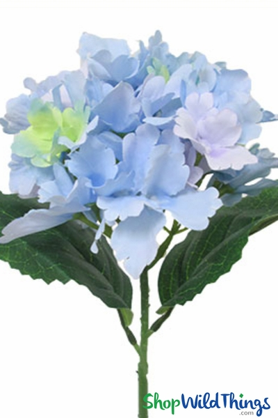 "Silk Hydrangea Bloom Violet Blue - Deluxe 6"" Flower"