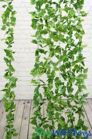 Silk Grape Leaf Ivy Garland Vine 8' (as low as $3.41 each)
