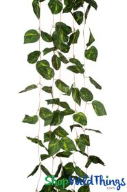 Silk Philodendron Garland Vines - 5Pcs - Each 8'