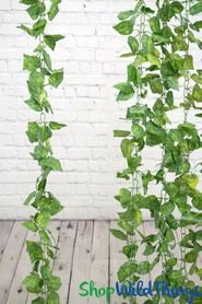 Silk Pothos Leaf Garland Vine 8' (as low as $3.44 each)