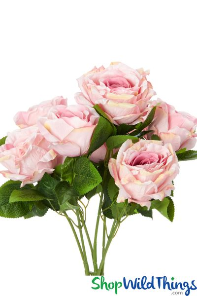 "COMING SOON! Silk Rose Bouquet - Mauve Spray - 21 1/2"" - 7 Heads"