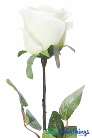 "Silk Rose Bud - Ivory - 27 1/2"" - BUY MORE, SAVE MORE!"