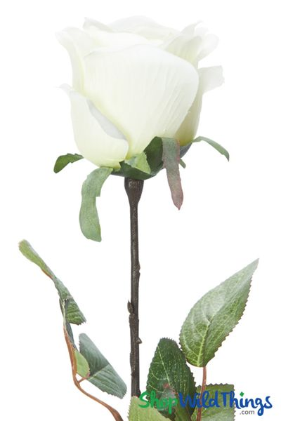 Silk Rose Bud - Ivory - 27 1/2""