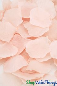 Silk Rose Petals - Light Blush Pink - Bag of 300 pcs
